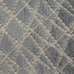 Krásná hřejivá šedá deka se zlatým ornamentem