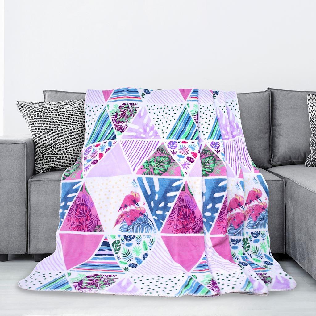 Kvalitní barevná deka z mikrovlákna