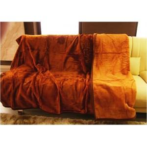 Luxusní deky z akrylu 200 x 240cm hnedo-oranžová č.5