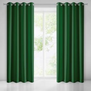 Tmavě zelené dekorační závěsy na okno s funkcí Black out
