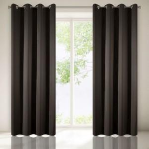 Zatemňovací dekorační závěsy tmavě šedé barvy