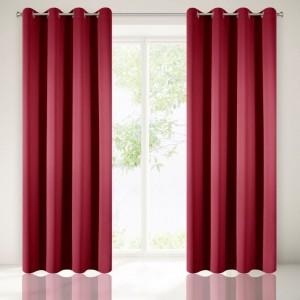 Luxusní červené dekorační závěsy do ložnice