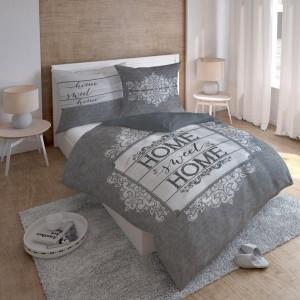 Kvalitní ložní povlečení z bavlny v šedé barvě
