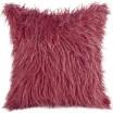 Bordó povlak na polštář s dlouhým vlasem