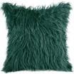 Dekorační chlupatý povlak tmavě zelené barvy