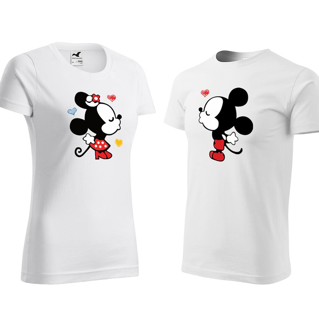 Bílé valentýnské trička pro páry