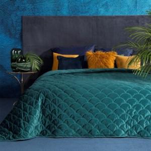 Tyrkysový přehoz na postel v rozměru 220x240 cm
