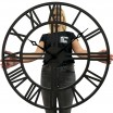 Černé hodiny na stěnu ze dřeva LOFT GRANDE 80cm