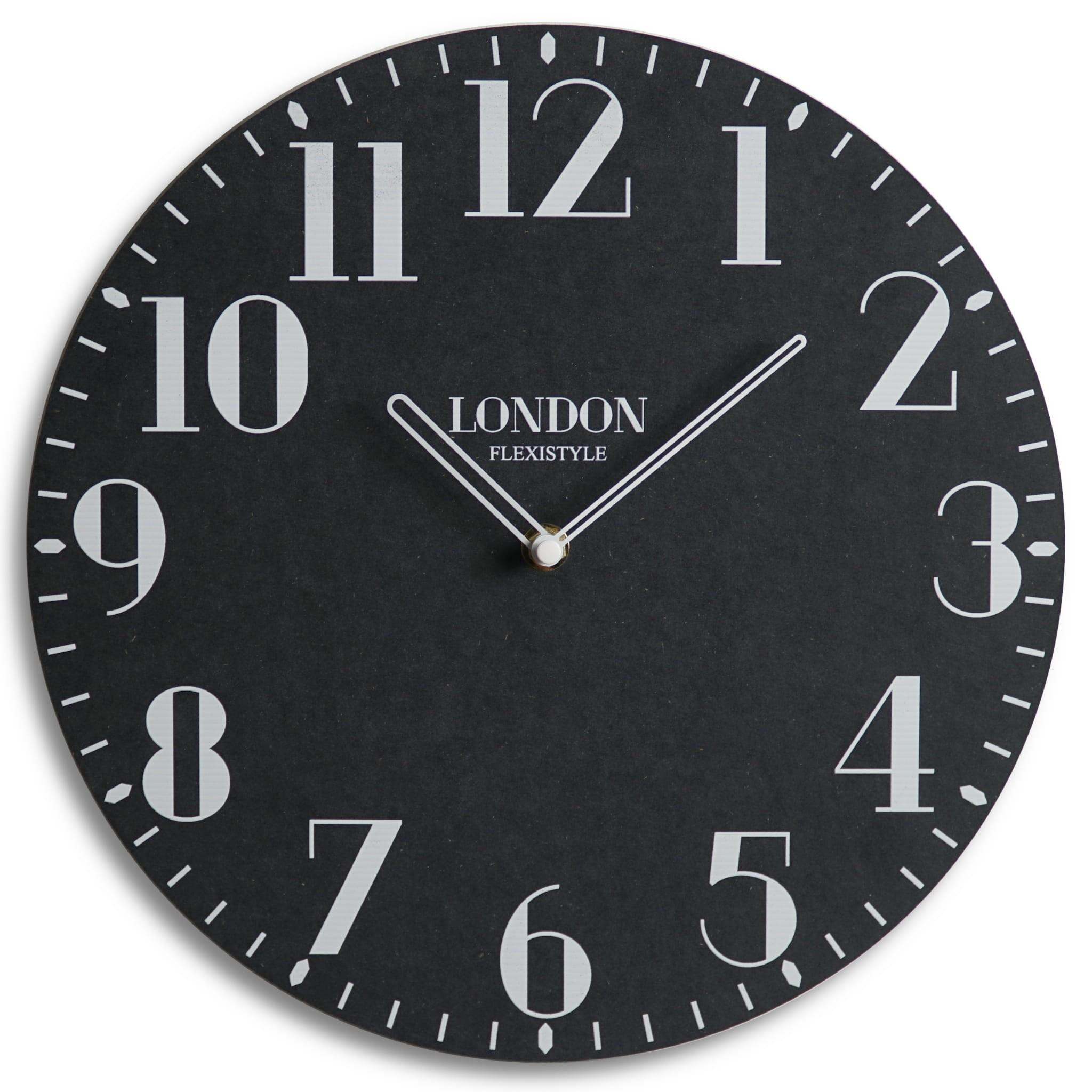 Kvalitní hodiny ze dřeva v černé barvě