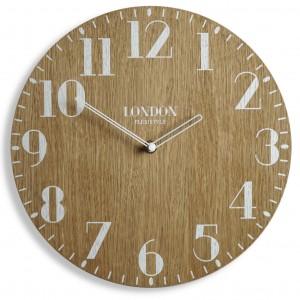 Dekorační hodiny v retro stylu LONDON RETRO WOOD 30cm