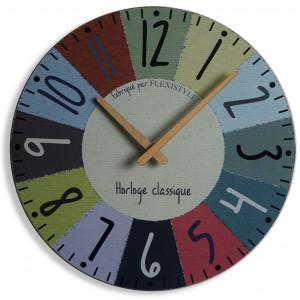 Barevné hodiny na zeď s průměrem 30cm