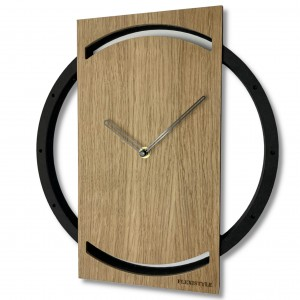 Elegantní hodiny ze dřeva WOOD OAK 2