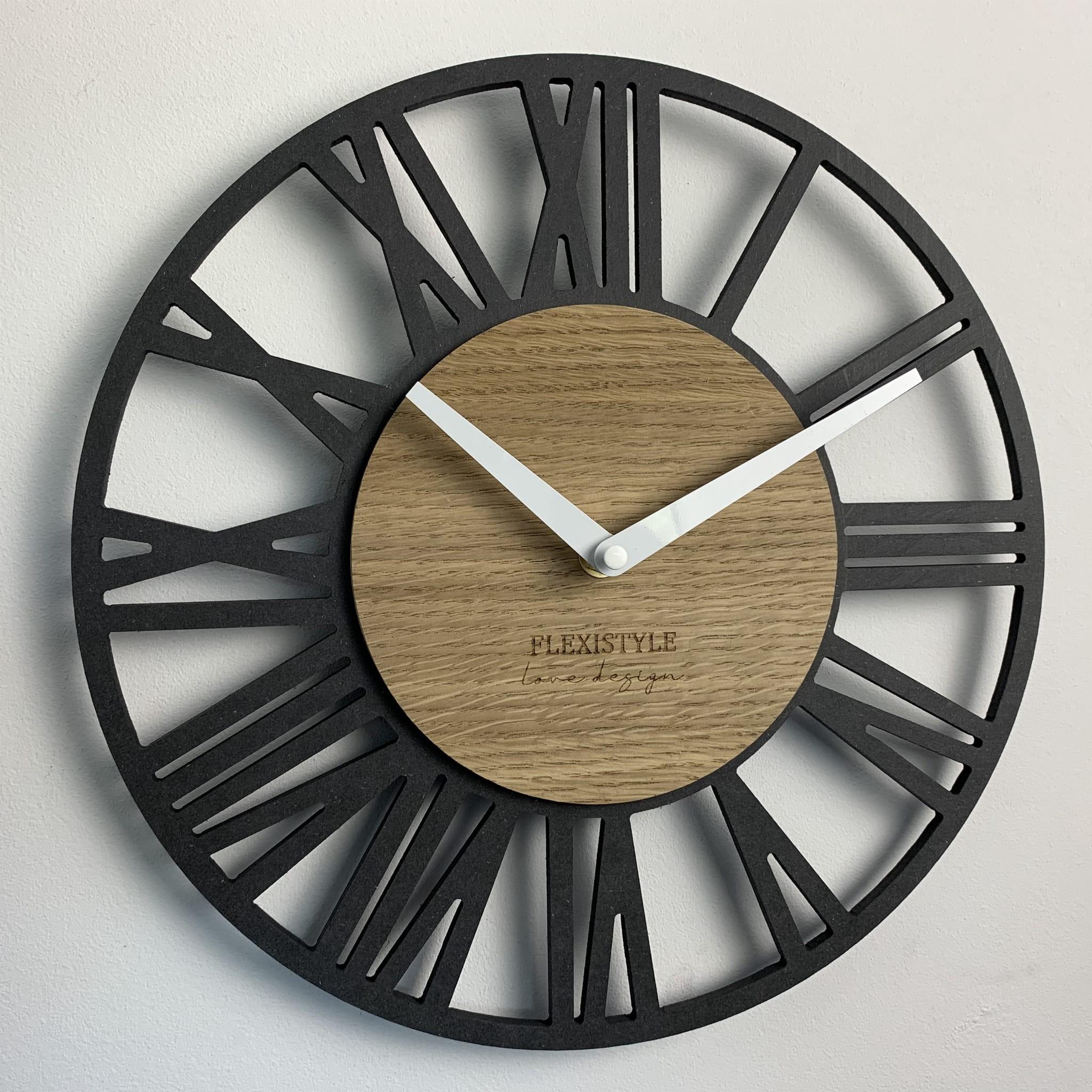 Nástěnné hodiny v luxusním stylu LOFT PICCOLO 30cm