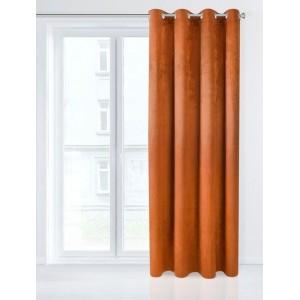 Jednobarevný Black Out závěs v oranžové barvě