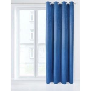 Dekorační závěs v modré barvě s funkiou Black Out
