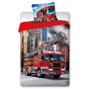 Kvalitní ložní povlečení pro děti s hasičským autem