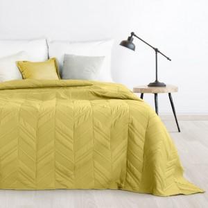 Moderní přehoz do ložnice ve žluté barvě