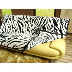 Luxusní deky z akrylu 200 x 240cm zebrová č.10
