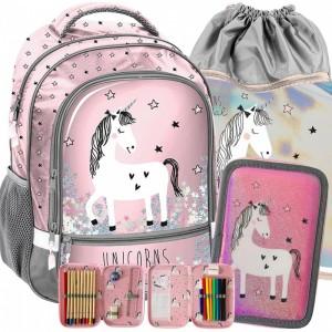 Školní taška pro dívky s jednorožcem