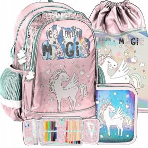 Krásná dívčí školní taška s leskem