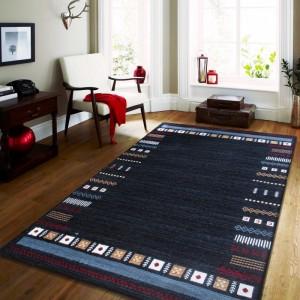 Luxusní modrý koberec do obýváku
