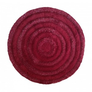 Elegantní kulatý koberec v bordó barvě