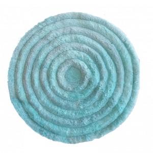 Kvalitní kulatý koberec v mentolové barvě