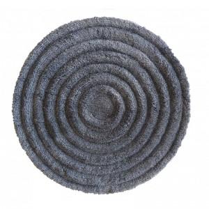 Kvalitní koberec v šedé barvě kulatý s průměrem 90cm