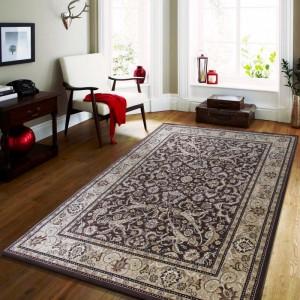Vintage koberec v hnědé barvě do obývacího pokoje