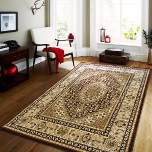 Hnědý vintage koberec do obývacího pokoje