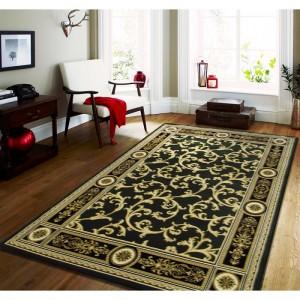 Zelený stylový koberec ve vintage stylu