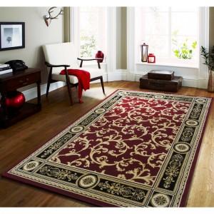 Kvalitní vintage koberec v červené barvě