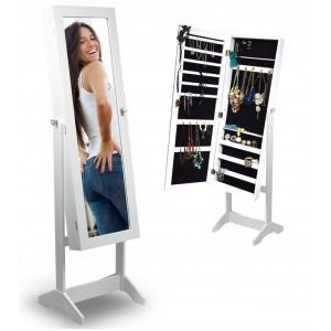 Velké zrcadlo s praktickou šperkovnicí