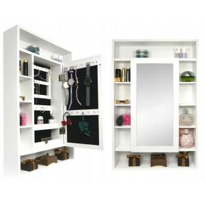 Skříňka se zrcadlem a úložným prostorem na stěnu