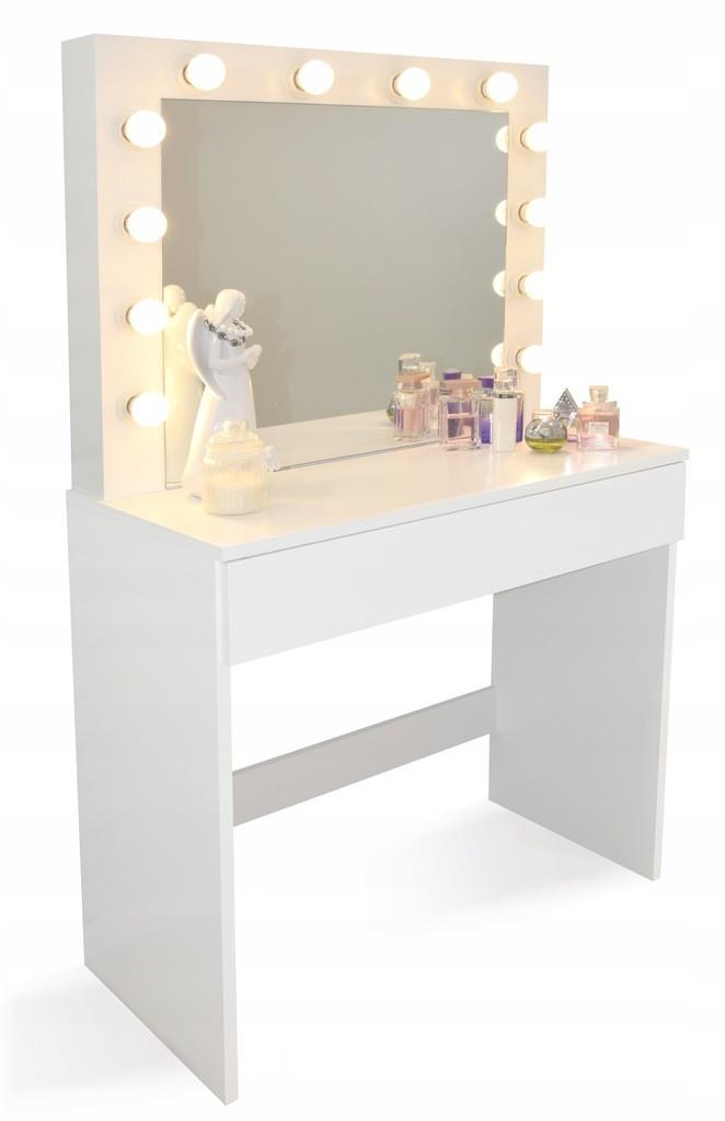 Toaletní stolek se světýlky bez taburetky
