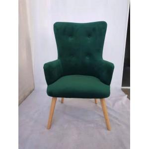 Velké pohodlné křeslo v zelené barvě