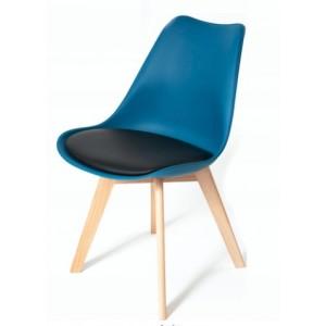 Tmavě tyrkysová židle s podsedákem