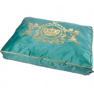 Luxusní pelíšek pro psy v tyrkysové barvě 80x60cm