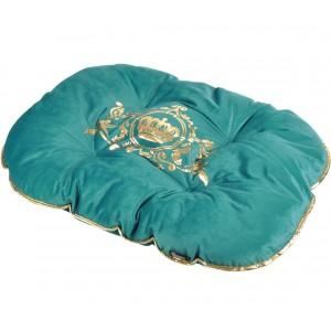 Tyrkysový polštářek na spaní pro zvířecí miláčky 87x64cm