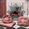 Luxusní růžový pelíšek pro psy v průměru 58 cm