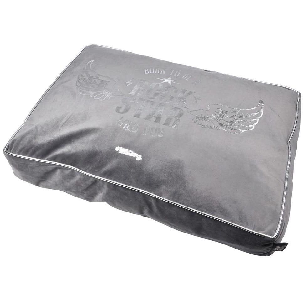 Moderní pelíšek v šedé barvě s potiskem 80x60cm