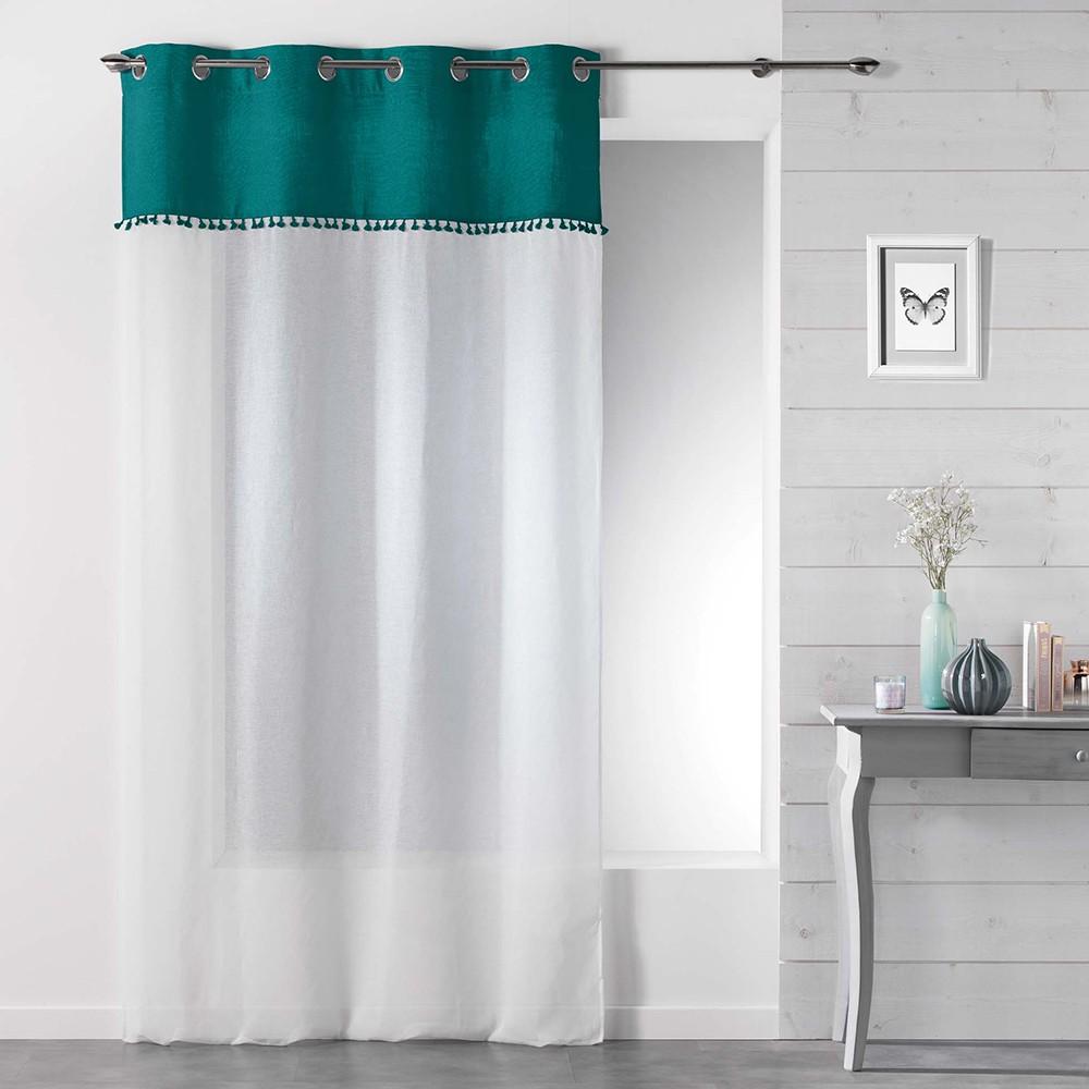 Hotové záclony dvoubarevné s třásněmi SONEVA 140 x 280 cm