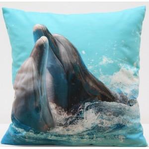 Moderní povlak na polštář s motivem delfína