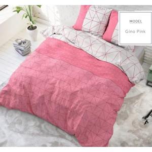 Oboustranné vzorované povlečení růžové barvy