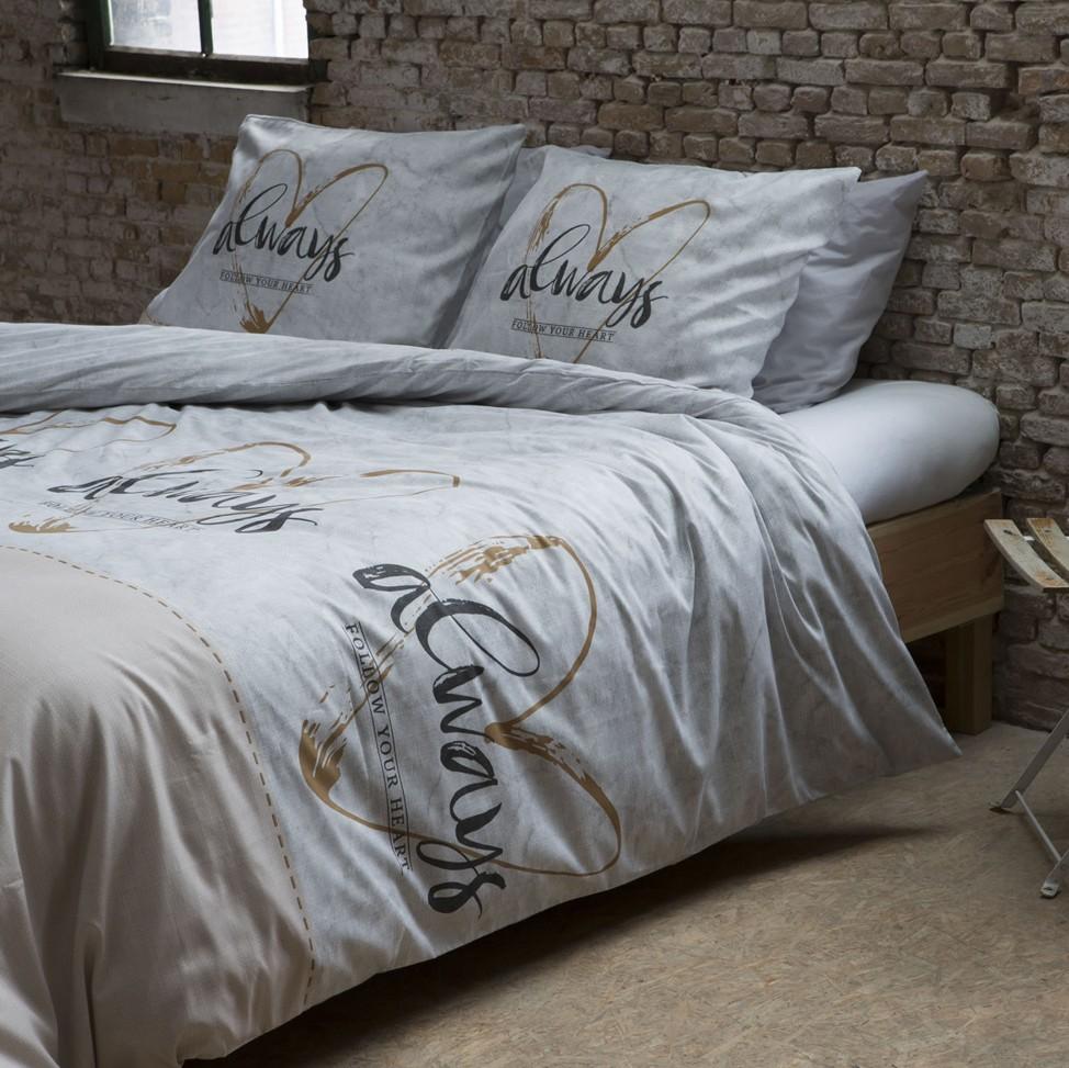 Povlečení na dvě postele s nápisem 160 x 200 cm