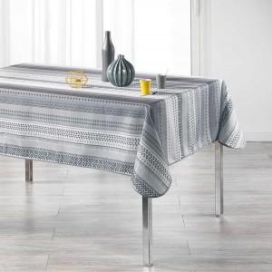 Vzorovaný ubrus do jídelny šedé barvy CHACANA