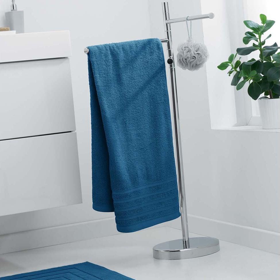 Savý ručník z měkké bavlny v modré barvě 70 x 130 cm
