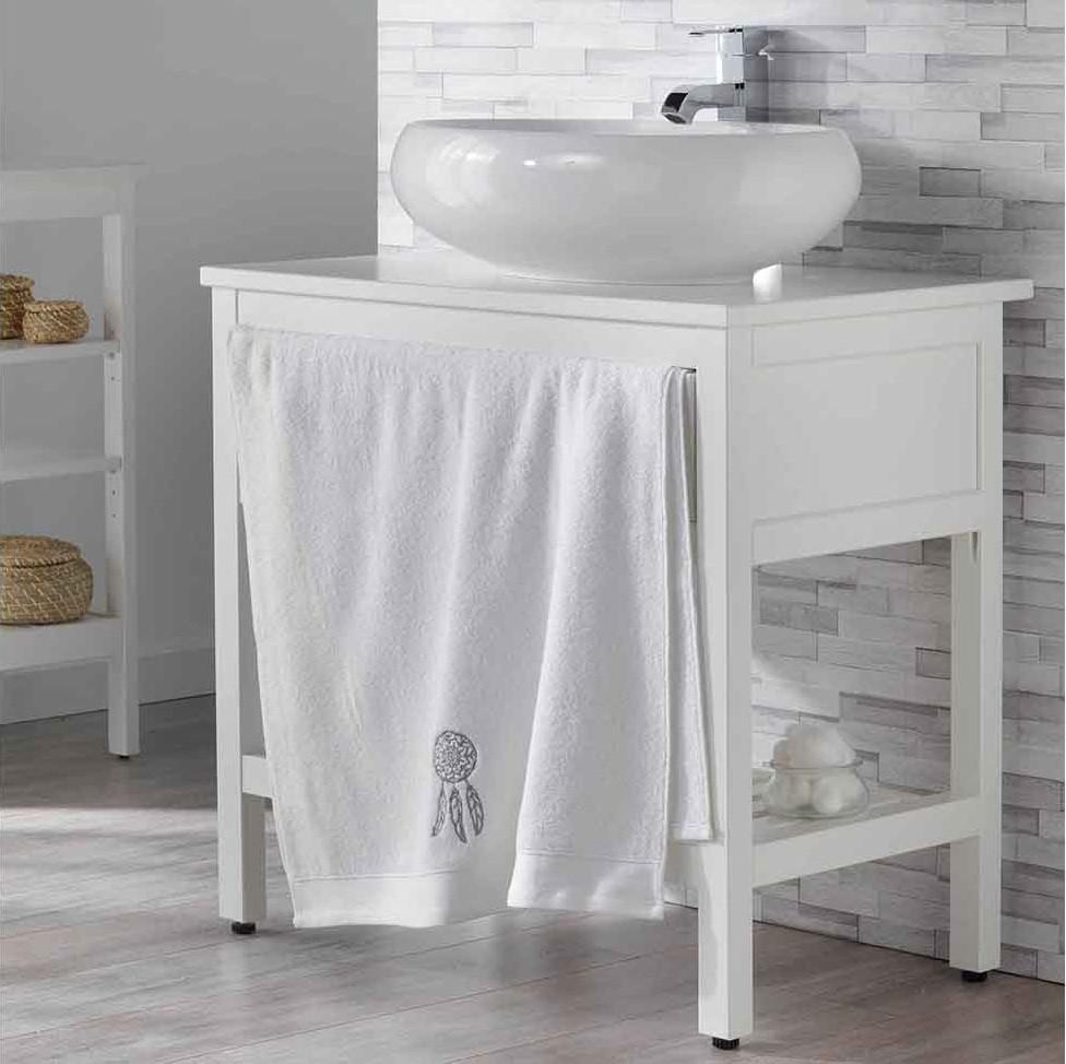 Měkká osuška bílá bavlněná 70 x 130 cm