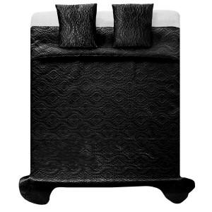 Kvalitní ložní přehozy na dvojlůžko v černé barvě
