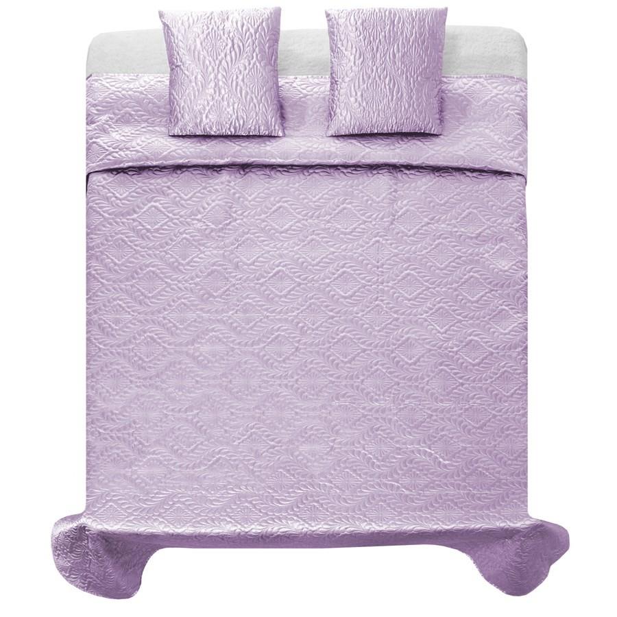Elegantní světlo fialové přehozy na postel 200 x 220 cm